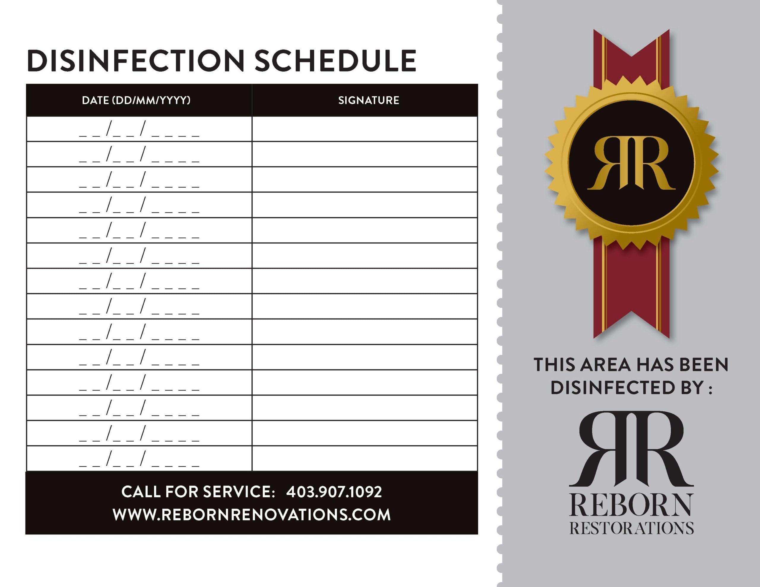 office disinfection schedule