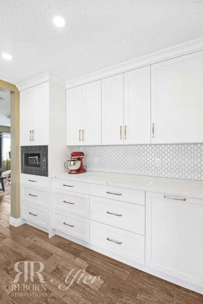 photos custom cabinets with modern appliances in Northwest Calgary