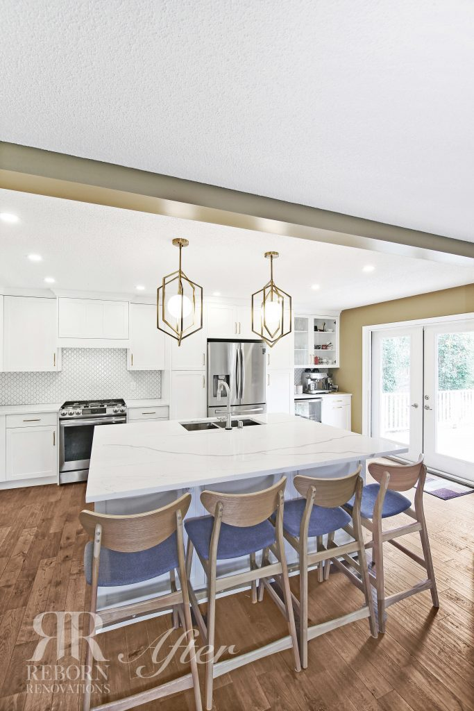 photos of modern appliances, light accent countertops and cabinet in Calgary CA