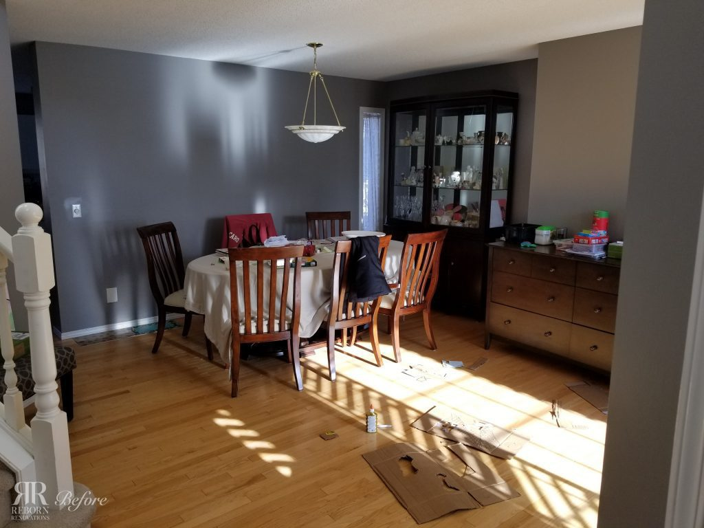 dining room in home before renovations