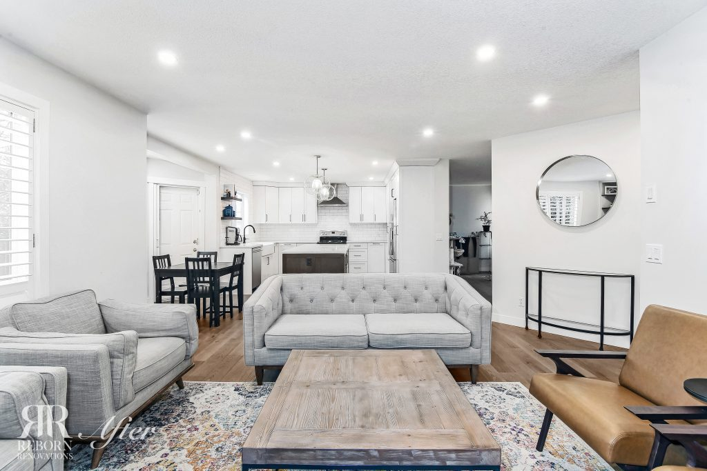Renovated Living Room on main floor of Strathcona Park home