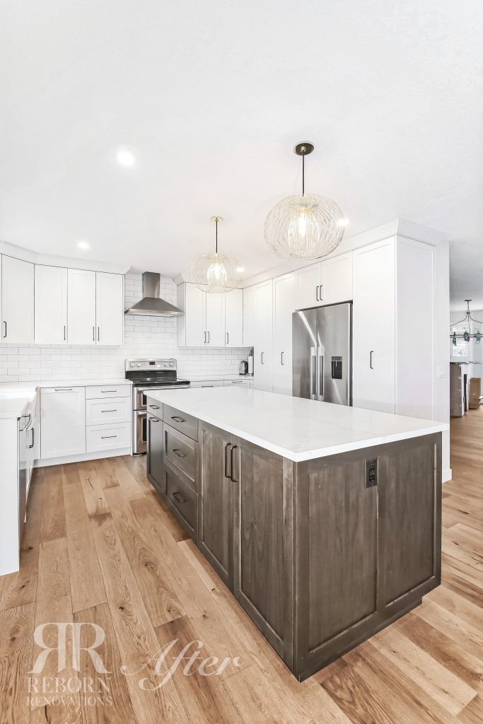 Newly built kitchen cabinets, in Calgary, AB, Canada