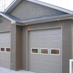 Garage exterior Painted and stuccoed