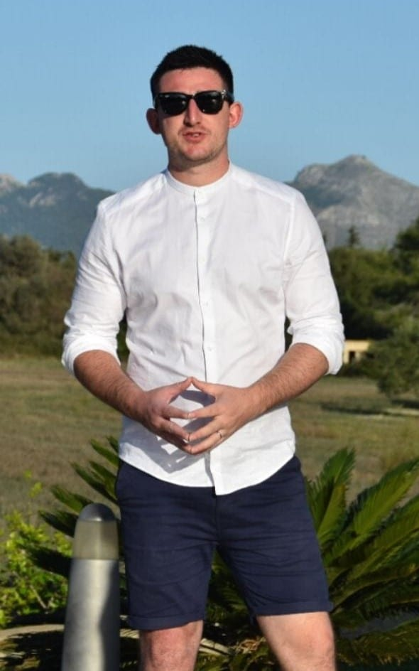 Photo of James Hopkins In Spain at a retreat for the lifestyle marketeer coaches to help teach expats digital marketing and advertising skills.